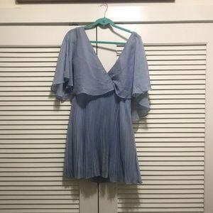 ASOS light blue pleated dress